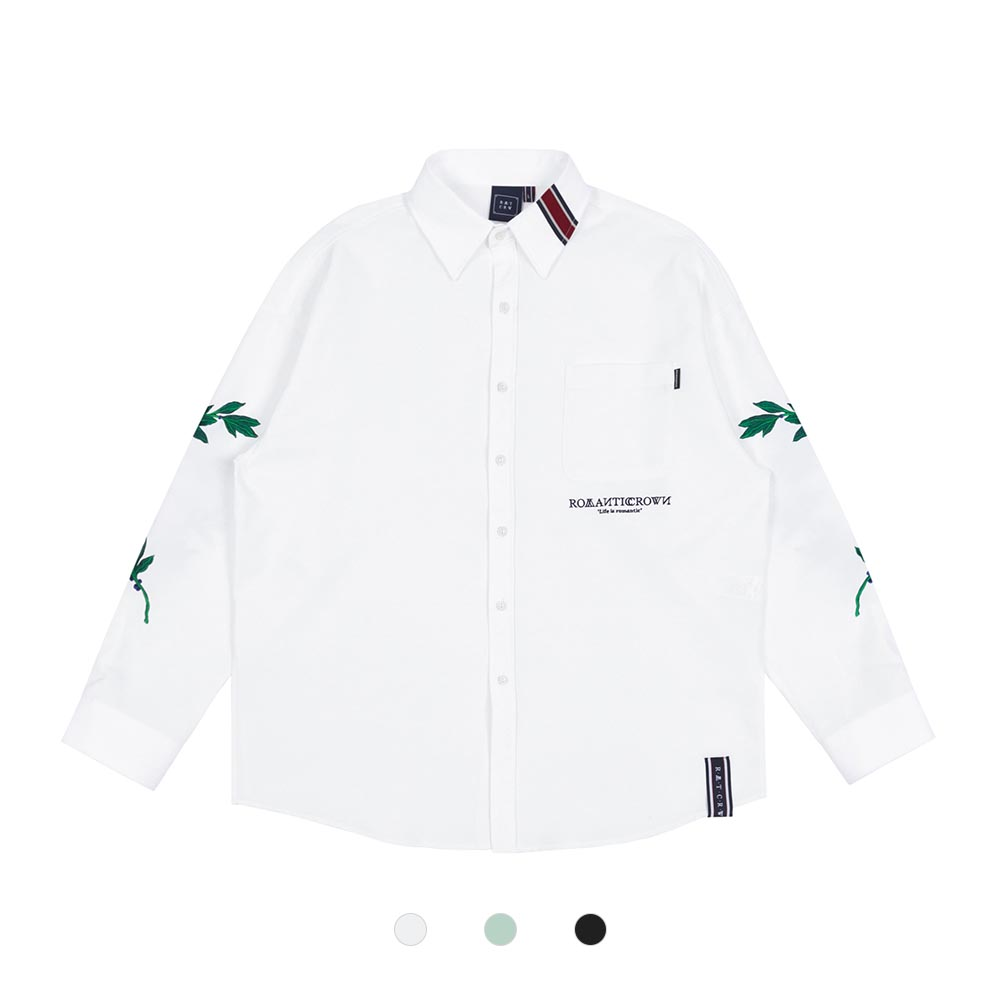 [ROMANTIC CROWN] MODERN LAUREL SHIRT 3COLOR